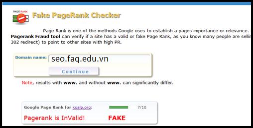 Cách phát hiện và kiểm tra Fake PageRank