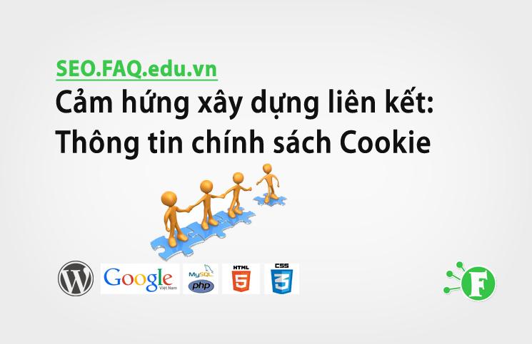 Cảm hứng xây dựng liên kết: Thông tin chính sách Cookie