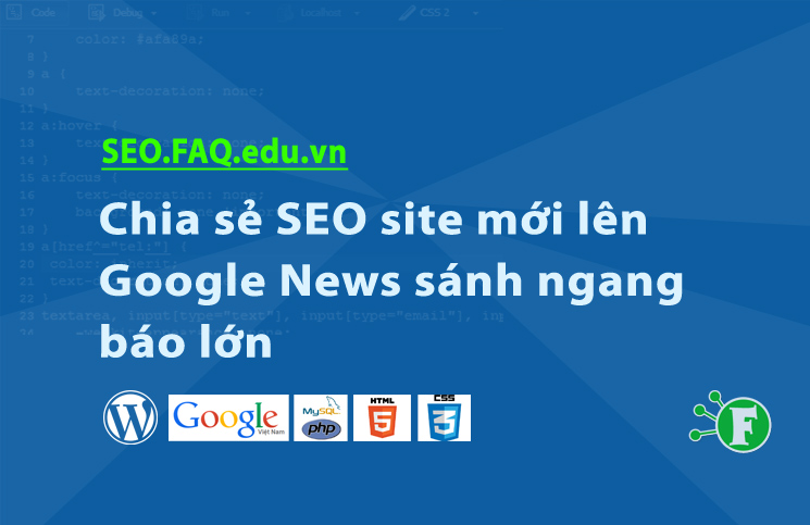 Chia sẻ SEO site mới lên Google News sánh ngang báo lớn