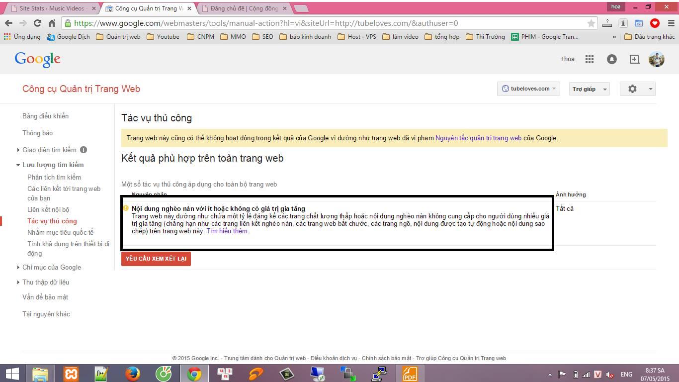 Hỏi cách khắc phục khi bị Google cảnh báo?