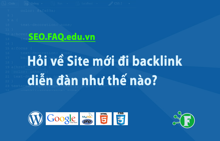 Hỏi về Site mới đi backlink diễn đàn như thế nào?