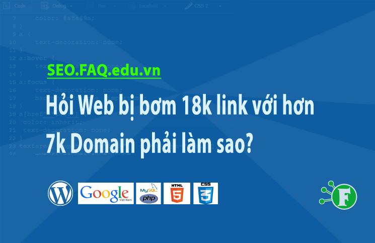 Hỏi Web bị bơm 18k link với hơn 7k Domain phải làm sao?