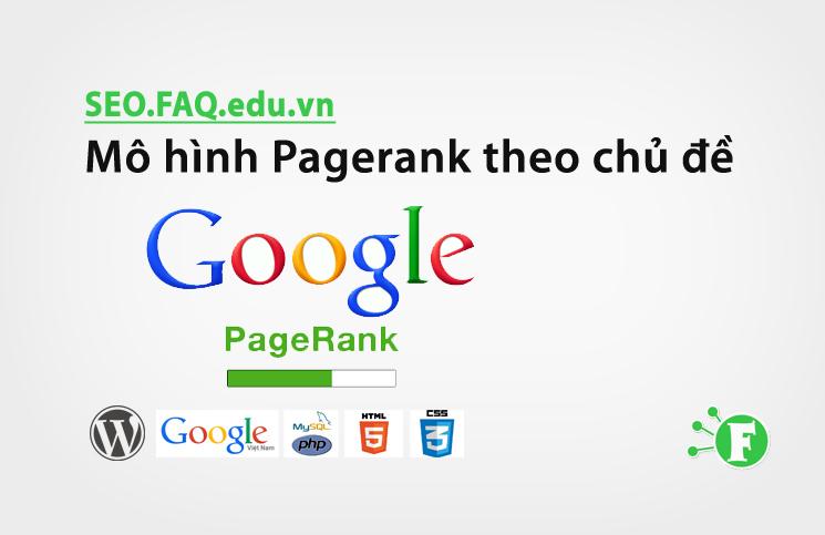 Mô hình Pagerank theo chủ đề