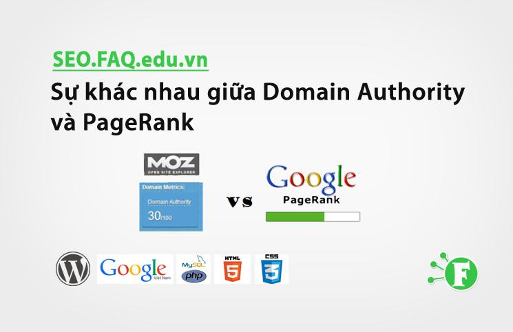 Sự khác nhau giữa Domain Authority và PageRank