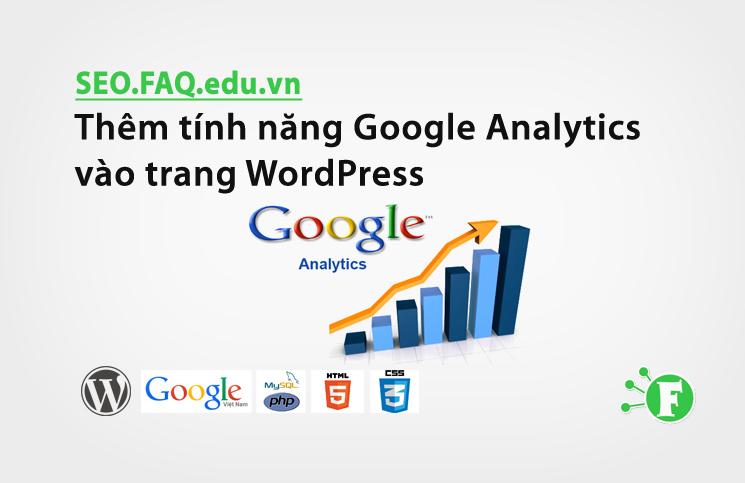Thêm tính năng Google Analytics vào trang WordPress