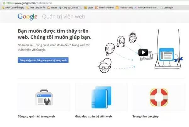 Đăng ký sử dụng Google webmaster tool như thế nào?