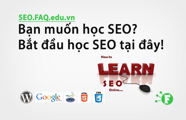 Bạn muốn học SEO? Bắt đầu học SEO tại đây!