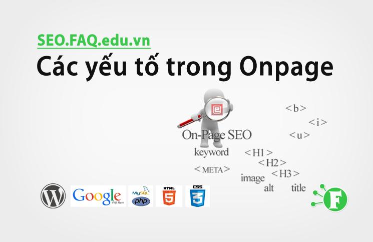 Các yếu tố trong Onpage
