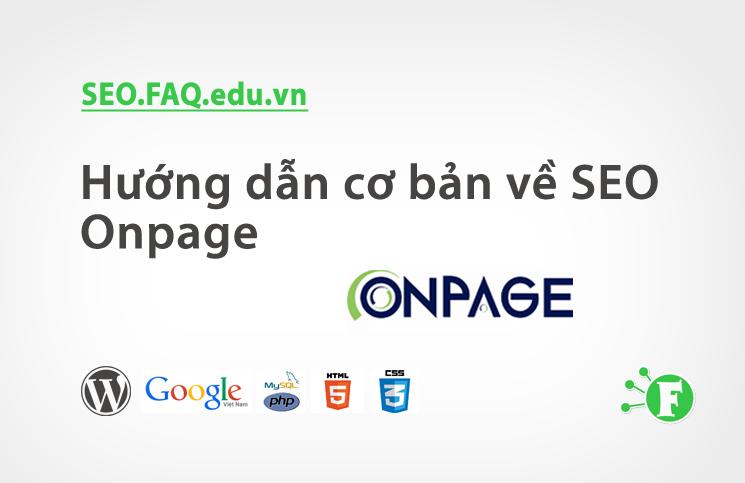 Hướng dẫn cơ bản về SEO Onpage