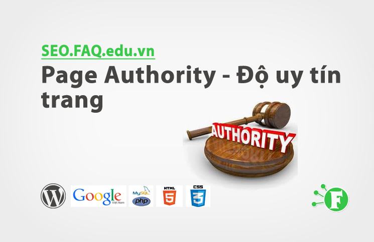 Page Authority – Độ uy tín trang