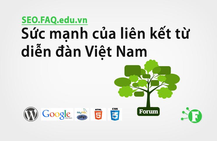 Sức mạnh của liên kết từ diễn đàn Việt Nam