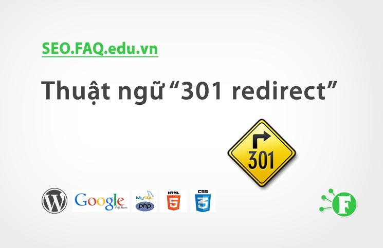 """Thuật ngữ """"301 redirect"""""""