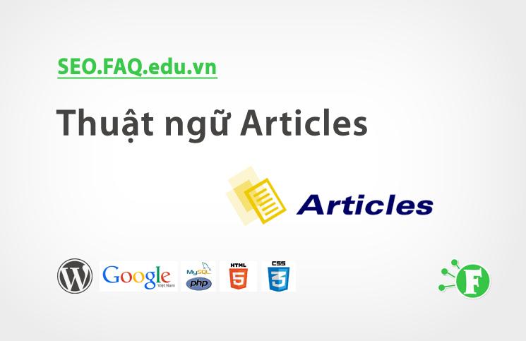 Thuật ngữ Articles