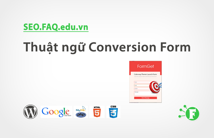 Thuật ngữ Conversion Form