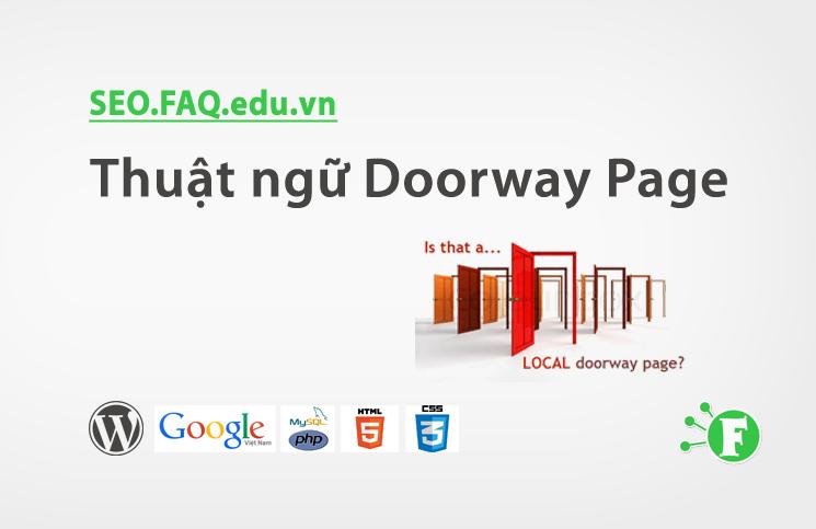 Thuật ngữ Doorway Page