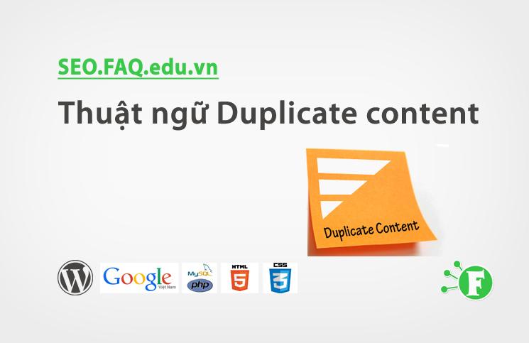 Thuật ngữ Duplicate content