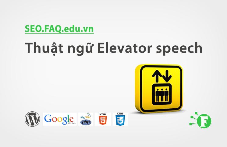 Thuật ngữ Elevator speech