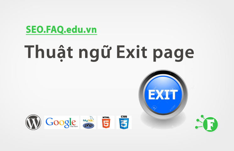 Thuật ngữ Exit page