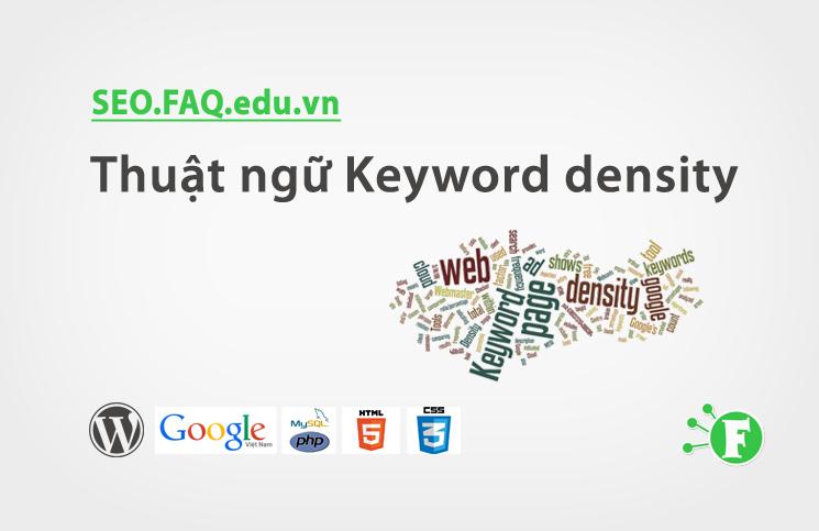 Thuật ngữ Keyword density