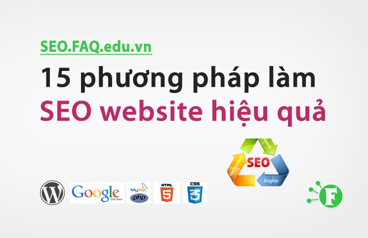 15 phương pháp làm SEO website hiệu quả