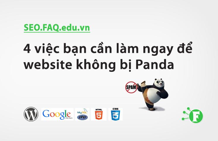 4 việc bạn cần làm ngay để website không bị Panda