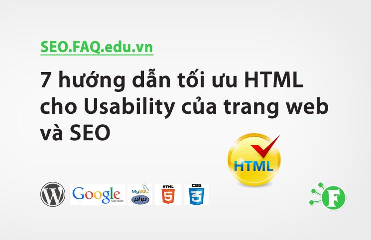 7 hướng dẫn tối ưu HTML cho Usability của trang web và SEO