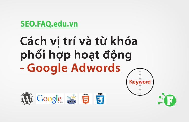 Cách vị trí và từ khóa phối hợp hoạt động – Google Adwords