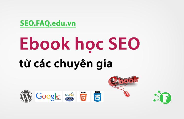 Ebook học SEO từ các chuyên gia