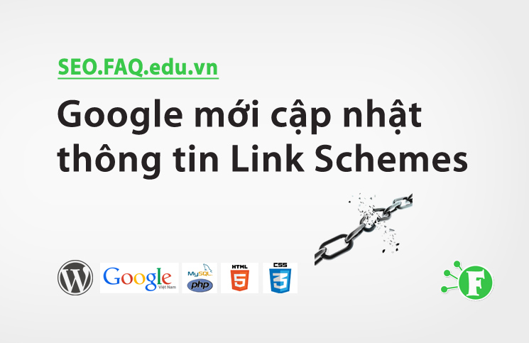 Google mới cập nhật thông tin Link Schemes