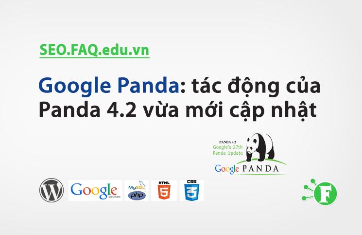 Google Panda: tác động của Panda 4.2 vừa mới cập nhật