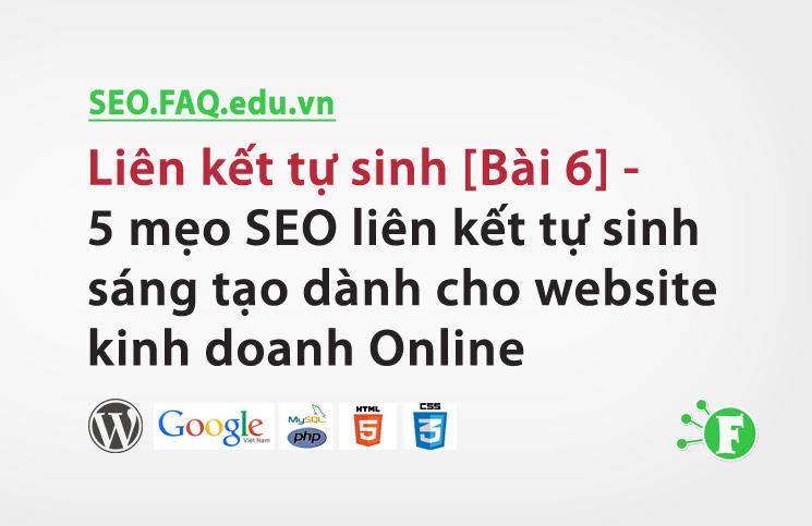 Liên kết tự sinh [Bài 6] – 5 mẹo SEO liên kết tự sinh sáng tạo dành cho website kinh doanh Online